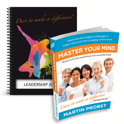 Master Your Mind Paperback and Leadership Journal Spiral Book - 3D Cover- Professional Development - Leadership Skills