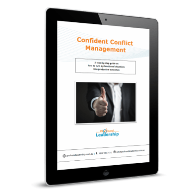 iPad_Confident Conflict Management - ebook - download - professional development - leadership skills - leadership training
