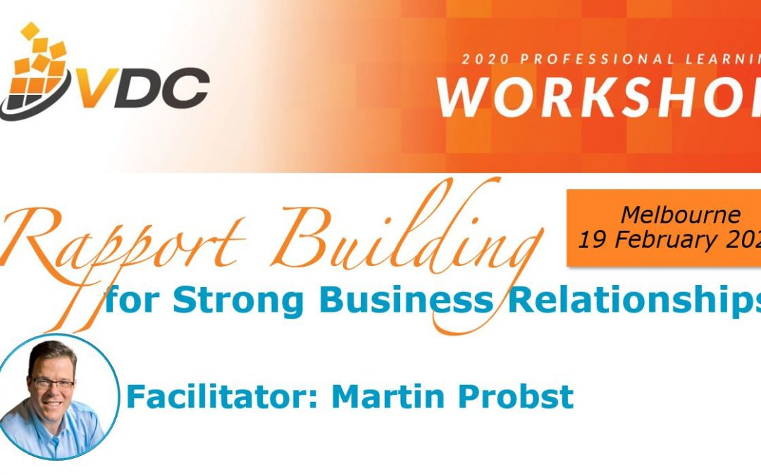 Rapport Building for Strong Business Relationships | Workshop (VDC)