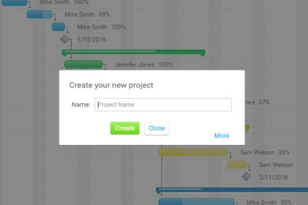 The Ultimate Guide to Gantt Charts   ProjectManager com Create a new project