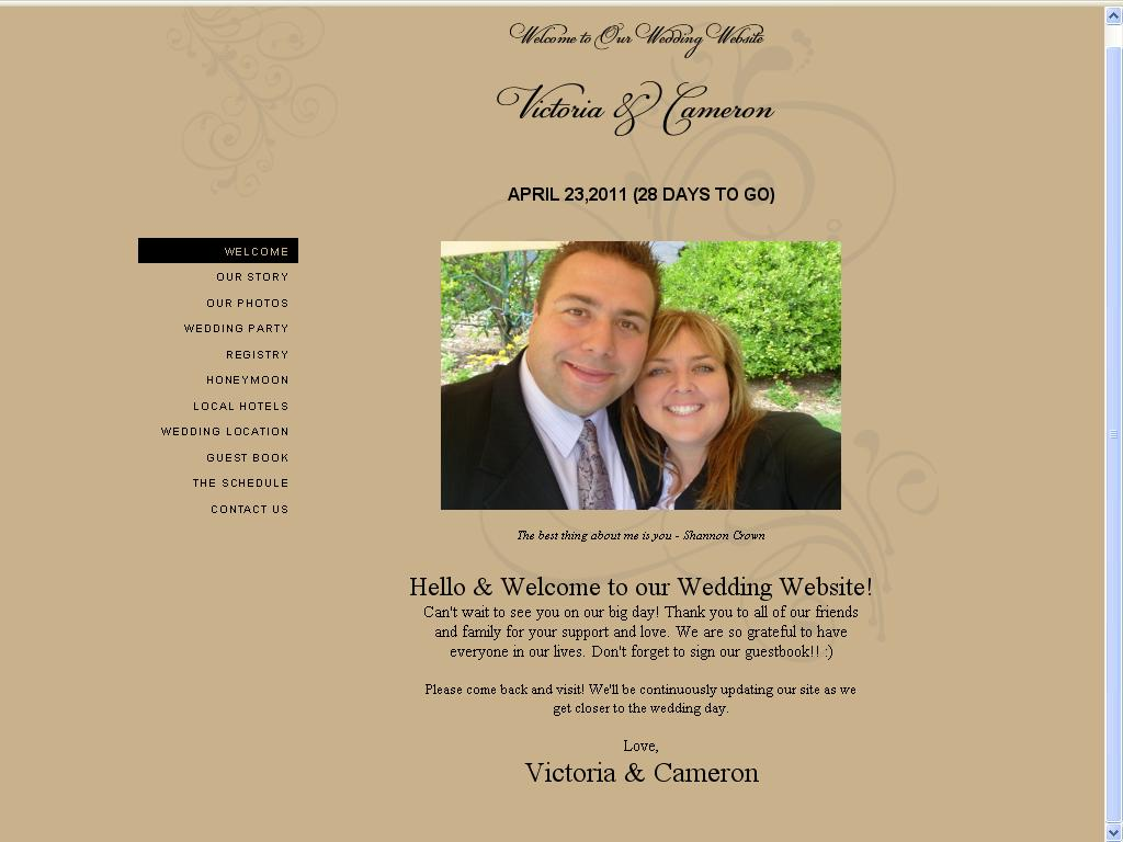 Our Story Wedding Website   Wedding Photography victoria cameron wedding website promasoft bd