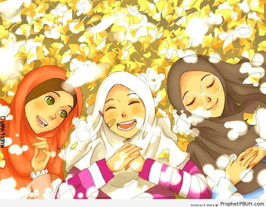 Muslimah Anak Gambar Perempuan Kartun