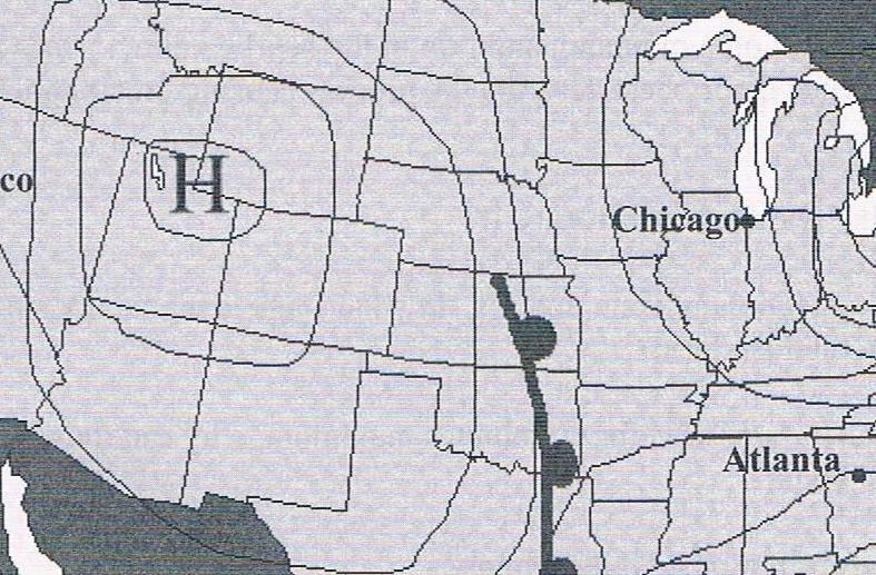 HD Decor Images » Physical Science Module 8   ProProfs Quiz Given the following weather map  Is the atmospheric pressure in Chicago  IL  higher  lower or equivalent to that in New York  NY