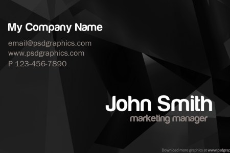 Stylish business card template  PSD    PSDGraphics Stylish dark business card template     back