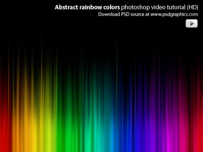Photoshop video tutorial - abstract lights background ...
