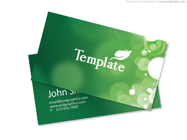 Eco friendly design  business card template   PSDGraphics ecology business card