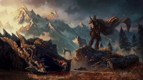 Create an Epic Fantasy Matte Painting  Dovahkiin  in Photoshop   PSD     Create an Epic Fantasy Matte Painting in Photoshop