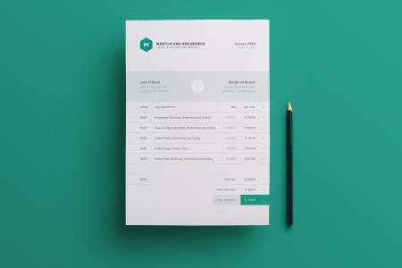 38  Invoice Templates PSD DOCX INDD   Free Download   PSDTemplatesBlog Modern Invoice Template INDD and IDML