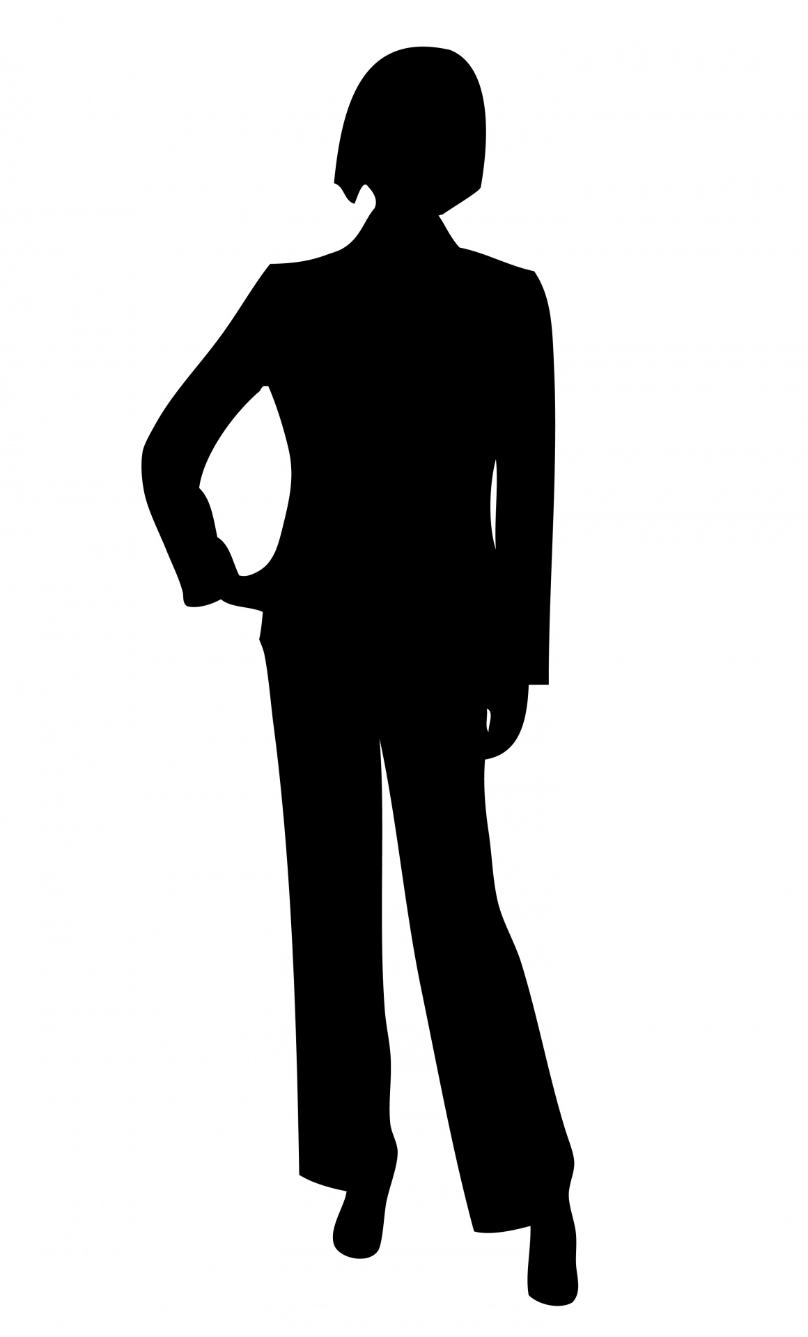 Black And White Female Boss Cartoon