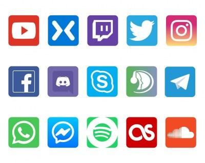 Networking Social Media Icons Free Stock Photo - Public ...