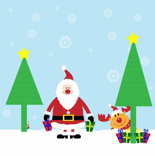 Christmas Santa Cartoon Card Free Stock Photo   Public Domain Pictures