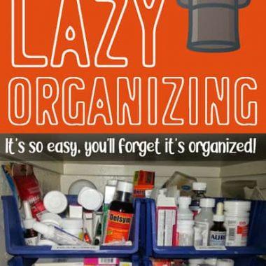 using open bins for organization