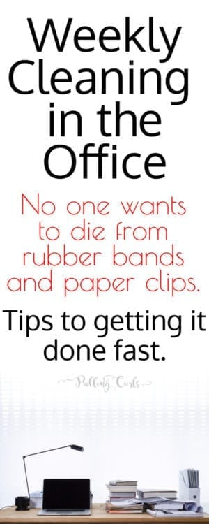 Office cleaning / printable / checklist / schedule / list / hacks / home /