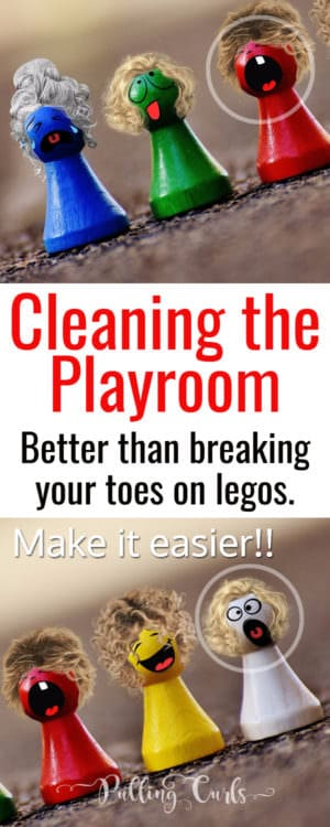 playroom cleaning / organization / checklist / play area / children / shelves
