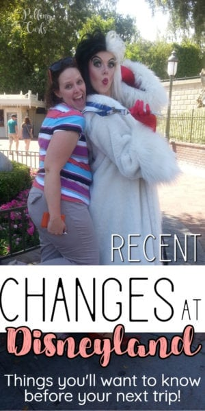 changes at Disneyland