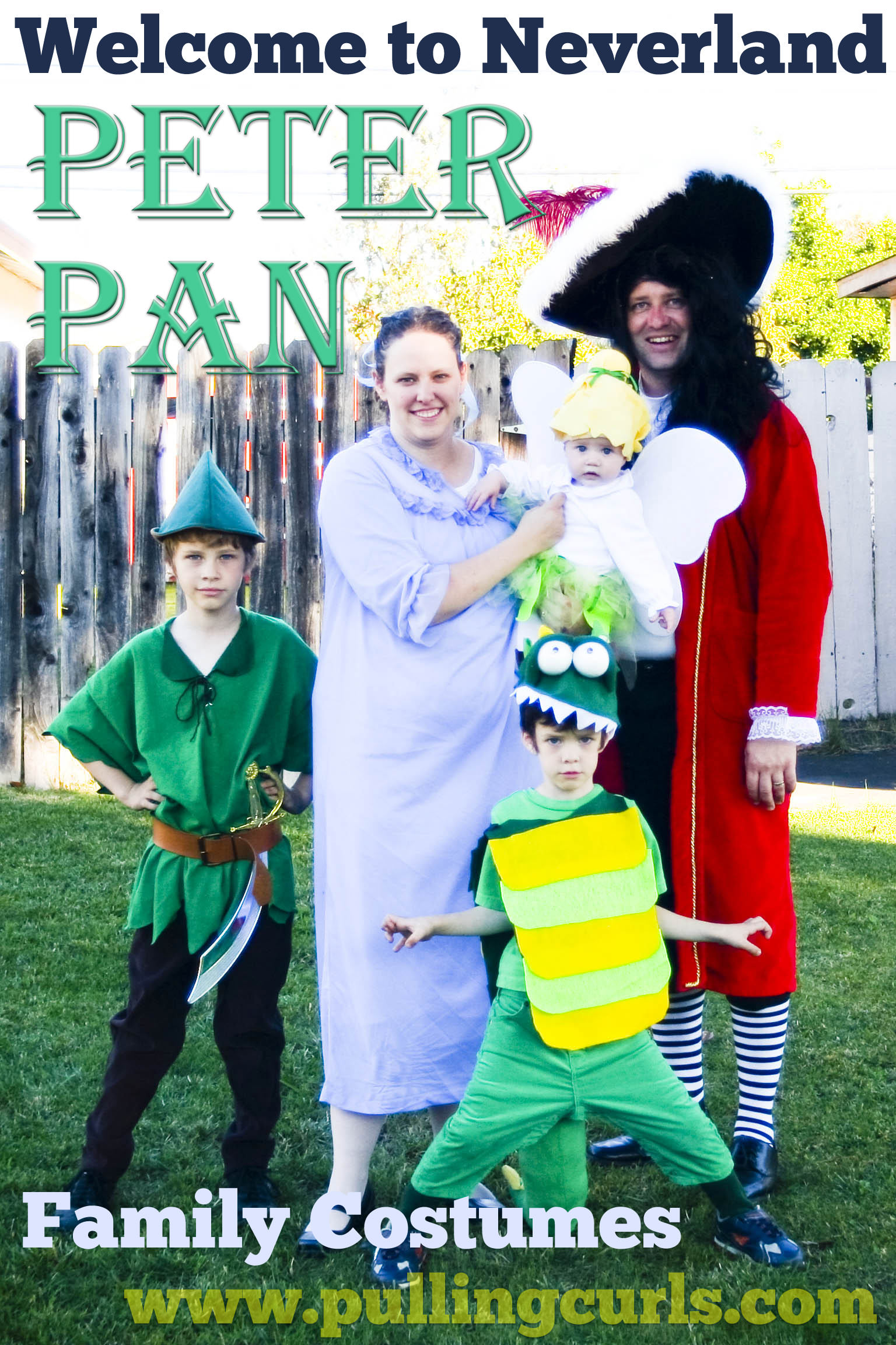 Peter Pan Family Costumes allows a lot of different and fun characters for each member of your family! #HalloweenCostumes #PeterPan
