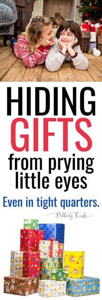 where to put Christmas gifts / birthday presents / storage / kids via @pullingcurls