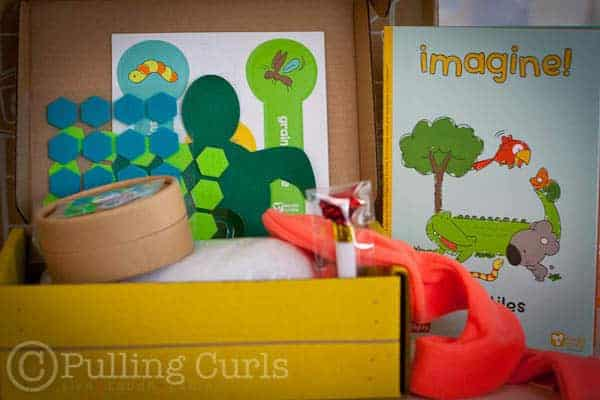 Koala Crate is great for kids ages 3-4. It inspires creativity and has lots of great crafts and a book to enjoy!