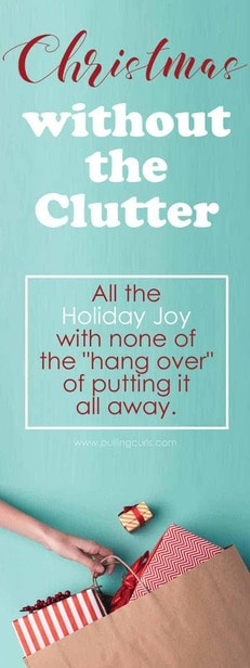 clutter-free Christmas / organization / no toys / giving experiences via @pullingcurls