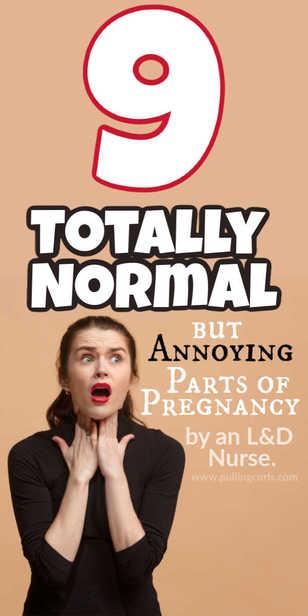 What's normal in pregnancy? via @pullingcurls