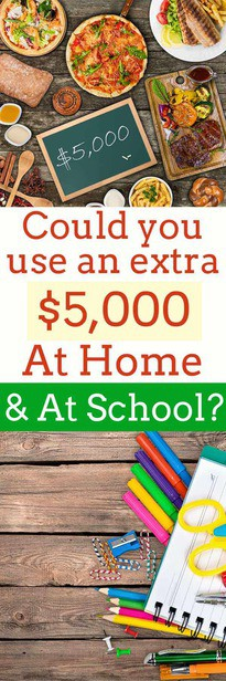 Could you use an extra $5,000 and think your school could use the same?  Enter this contest to get your school some of the money it needs for the new school year! via @pullingcurls