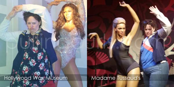 Queen B at both wax museums