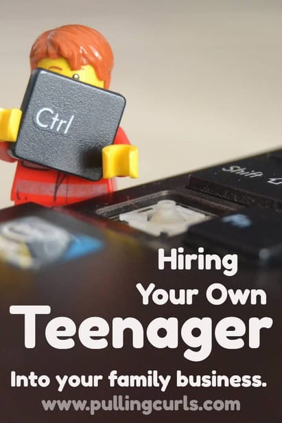 Hiring your own children comes with its own set of huge benefits and also a set of problems. This post will give an idea of how to create boundaries so everyone benefits! via @pullingcurls