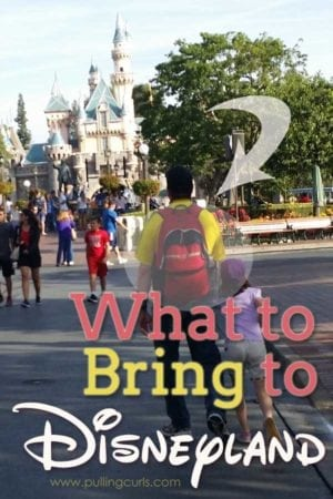 Things to pack for Disneyland