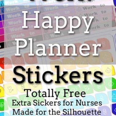 work happy planner stickers | erin condren | headers | nurse