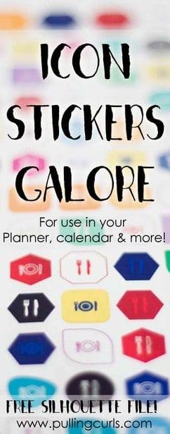 icon planner stickers | happy planner | Erin Condren | paper planner | washi tape via @pullingcurls