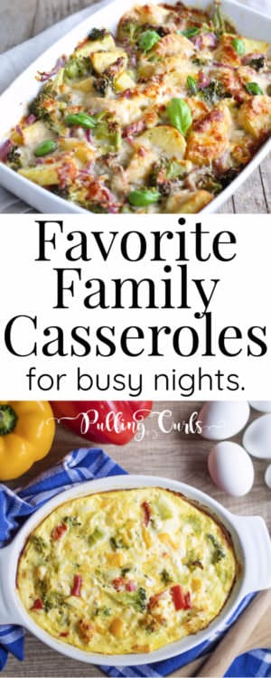 Best casseroles are easy, tasty and but a family-happy dinner on the table in hardly any time! Let's talk about some easy casserole recipes. /dinner / comfort foods / healthy / ground beef / chicken / dishes / easy Mexican