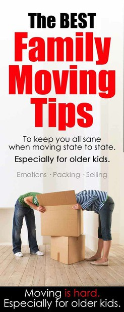 Family moving tips, especially for older kids. Emotions / selling your house / schools via @pullingcurls