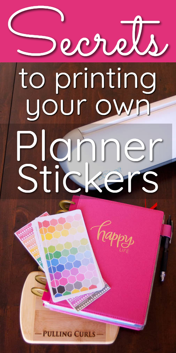 One of the simplest ways to save money is to make your own stickers. It is so easy to DIY planner stickers with some online templates. #stickers #silhouette #planner #planning via @pullingcurls