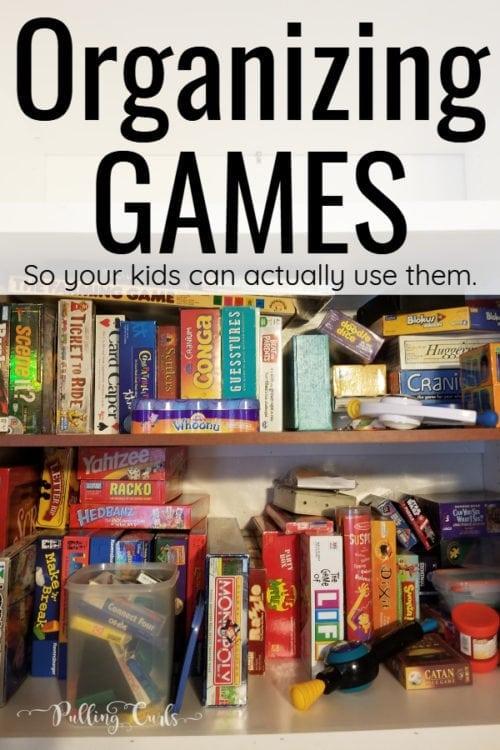 organizing games efficiently