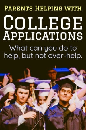 how can parents help kids with the college application process