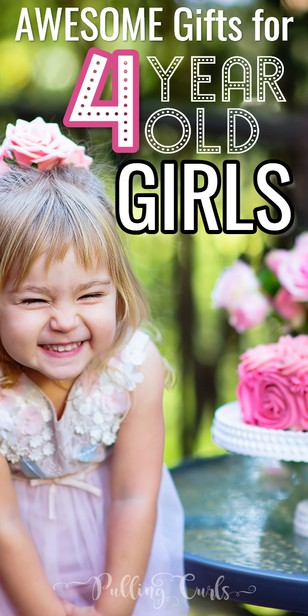 These gift ideas for your 4-year-old daughter or granddaughter will be ones she really loves! Some of these gift ideas are educational, but all are fun and something she will love to play with for a while to come. via @pullingcurls