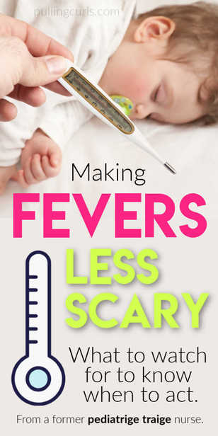 Children's Fever - when do you worry? High fever in children can be really disconcerting. We'll talk about unsafe fever temperature for kids via @pullingcurls
