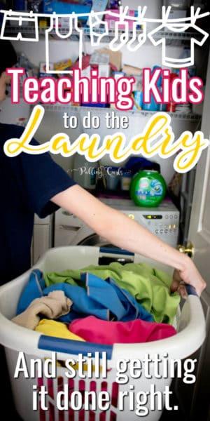teaching kids to do laundry
