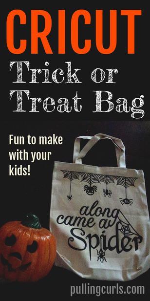 Cricut Halloween Trick or Treat Two-Sided Tote Bag via @pullingcurls