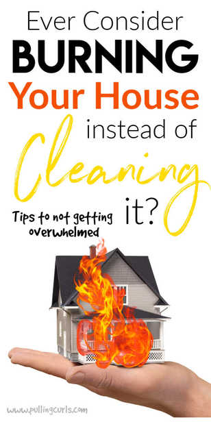 Keeping a house can be OVERWHELMING. Especially when you have small children. Today we're talking about what to do when you get that sinking feeling that you just don't know HOW it's going to all get done! #cleaning #organizing #organize #clean via @pullingcurls