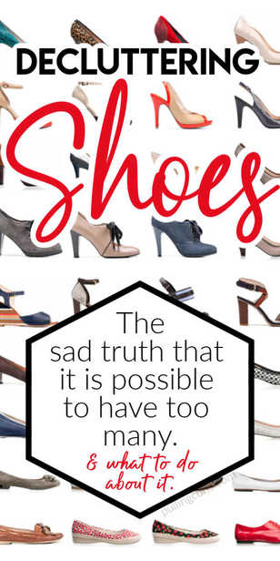 Decluttering shes can be a confusing process. Adults and kids alike can use these six questions to make their shoe closet a little easier to find the shoes they want, and enjoy every event with footwear they love! via @pullingcurls
