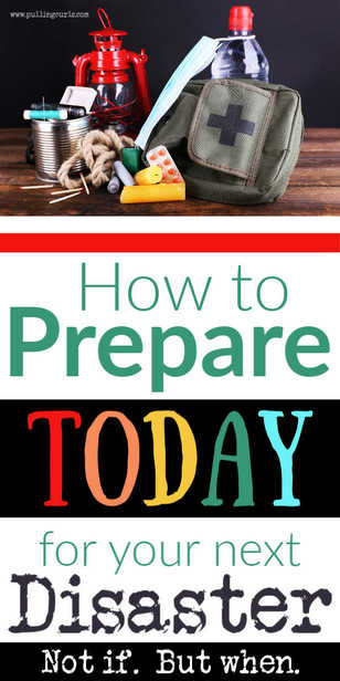 What can I prepare in advance for the next disaster -- earthquake, fire, tornado, hurricane. via @pullingcurls