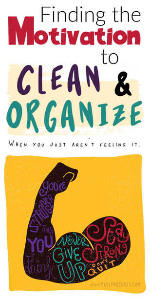 How do I get motivated to clean? via @pullingcurls