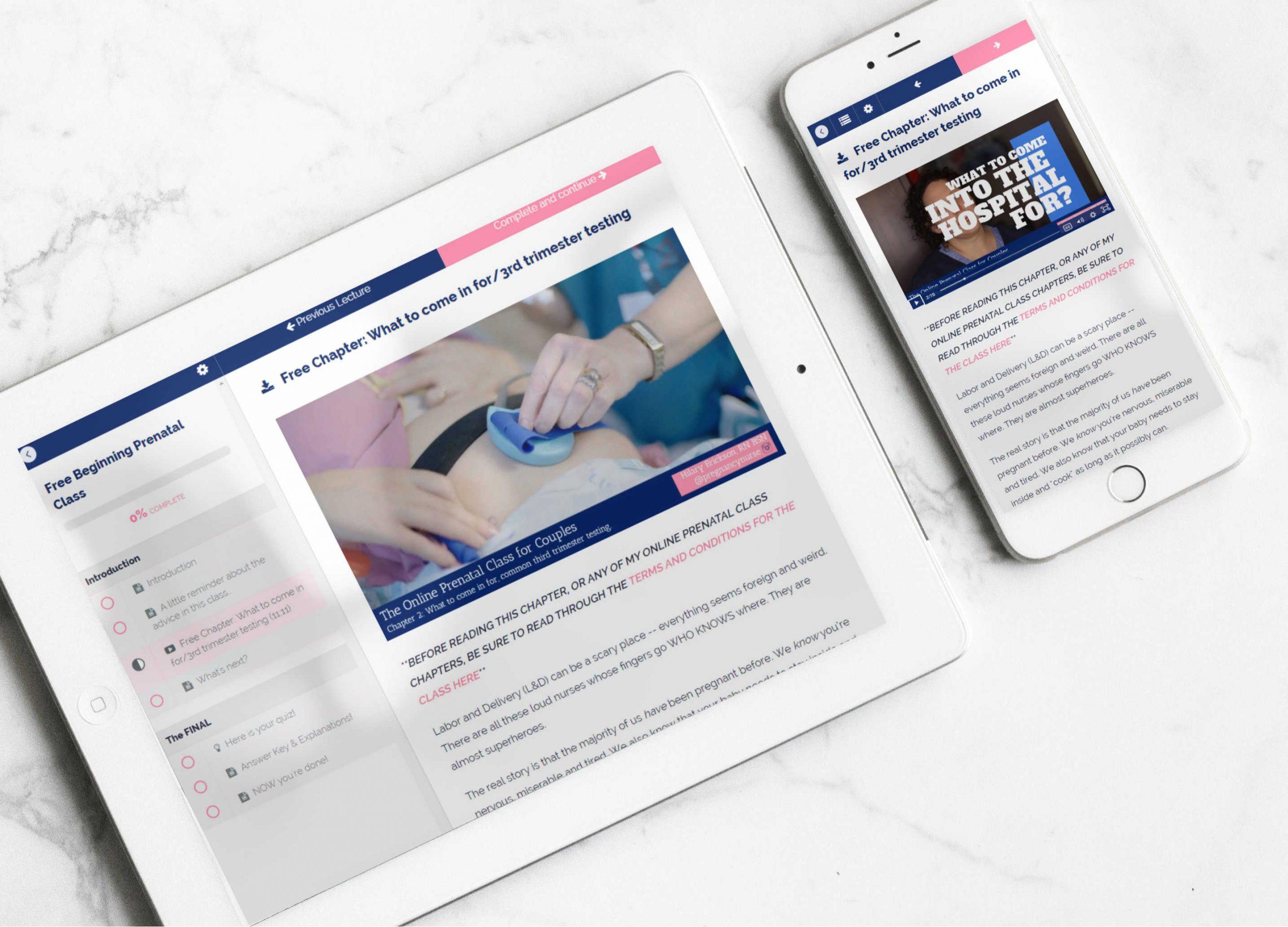 online prenatal course