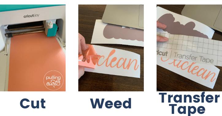 Organization Labels with Cricut Joy Smart labels - Oxiclean steps