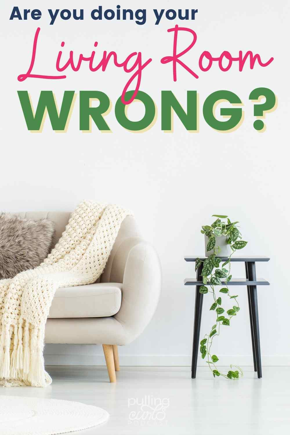 Creating boundaries in your living room is important to keep it how you want it. I am not saying your living room needs to be a specific way -- but by creating the living room that YOU enjoy will make it easier to relax. via @pullingcurls