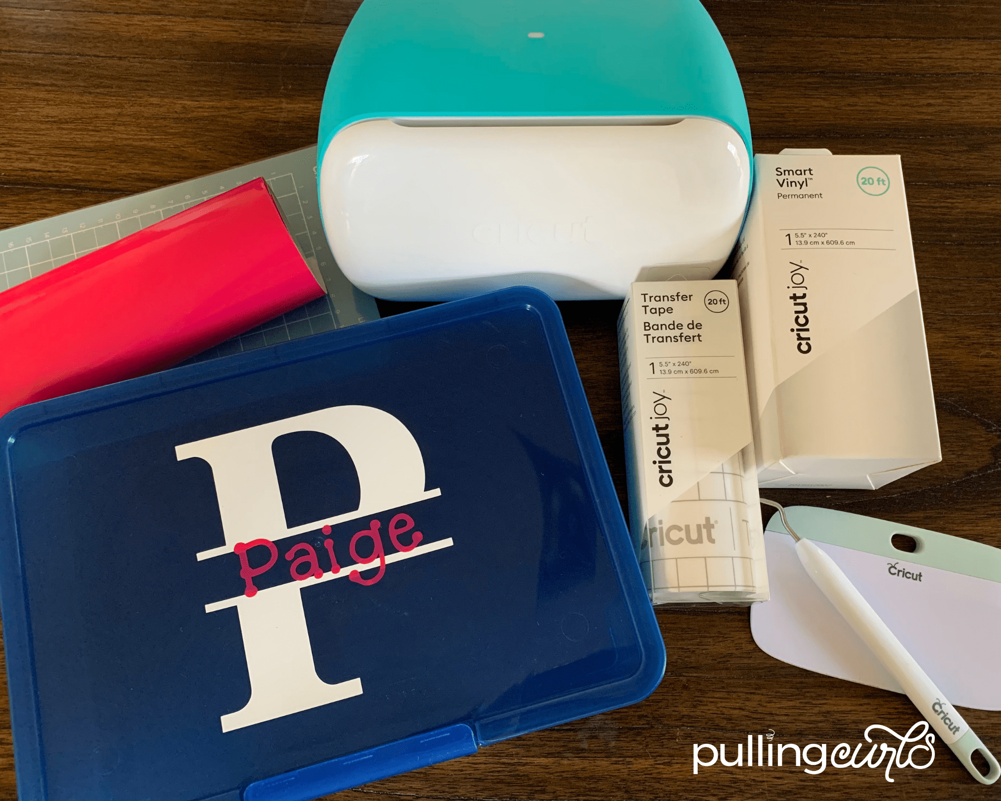 Personalize Back to School Supplies with Cricut Joy - pencil box