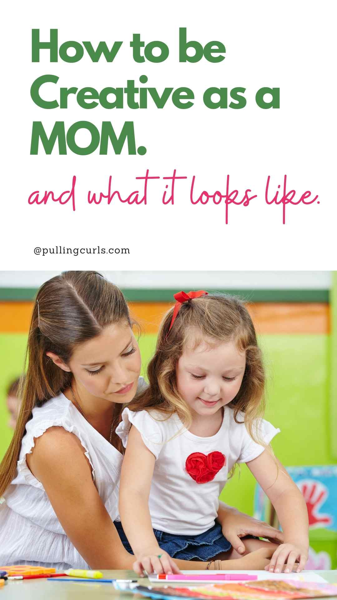 mom being creative via @pullingcurls
