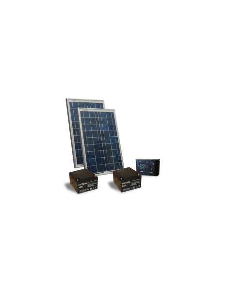 Kit Solar Electric Gates 20W 24V Solar Panels Charge Controller