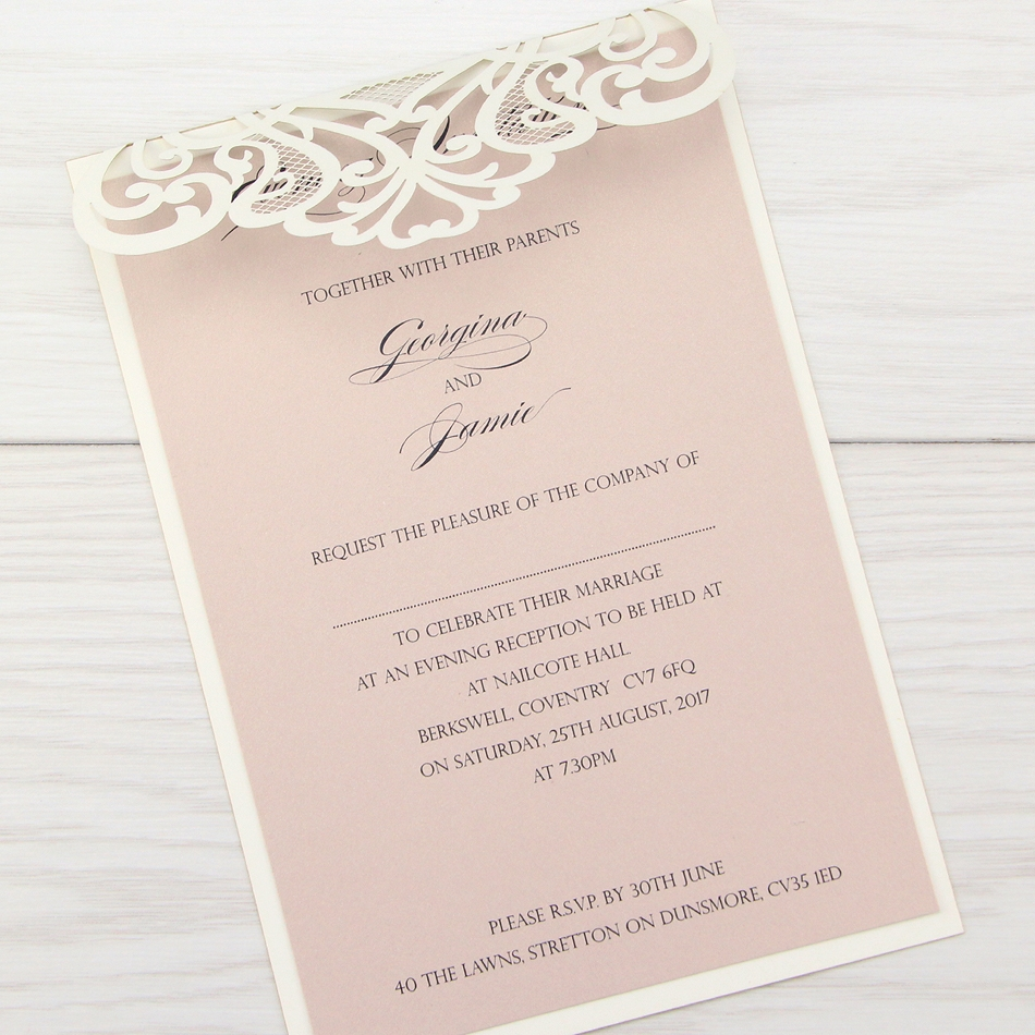 Cheap Wedding Invitations Glitter